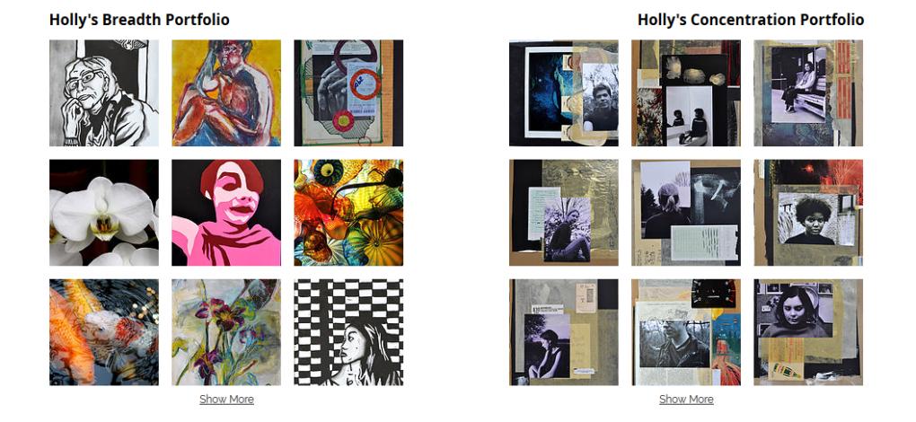 Portfolios cho các bạn học ngành nghệ thuật