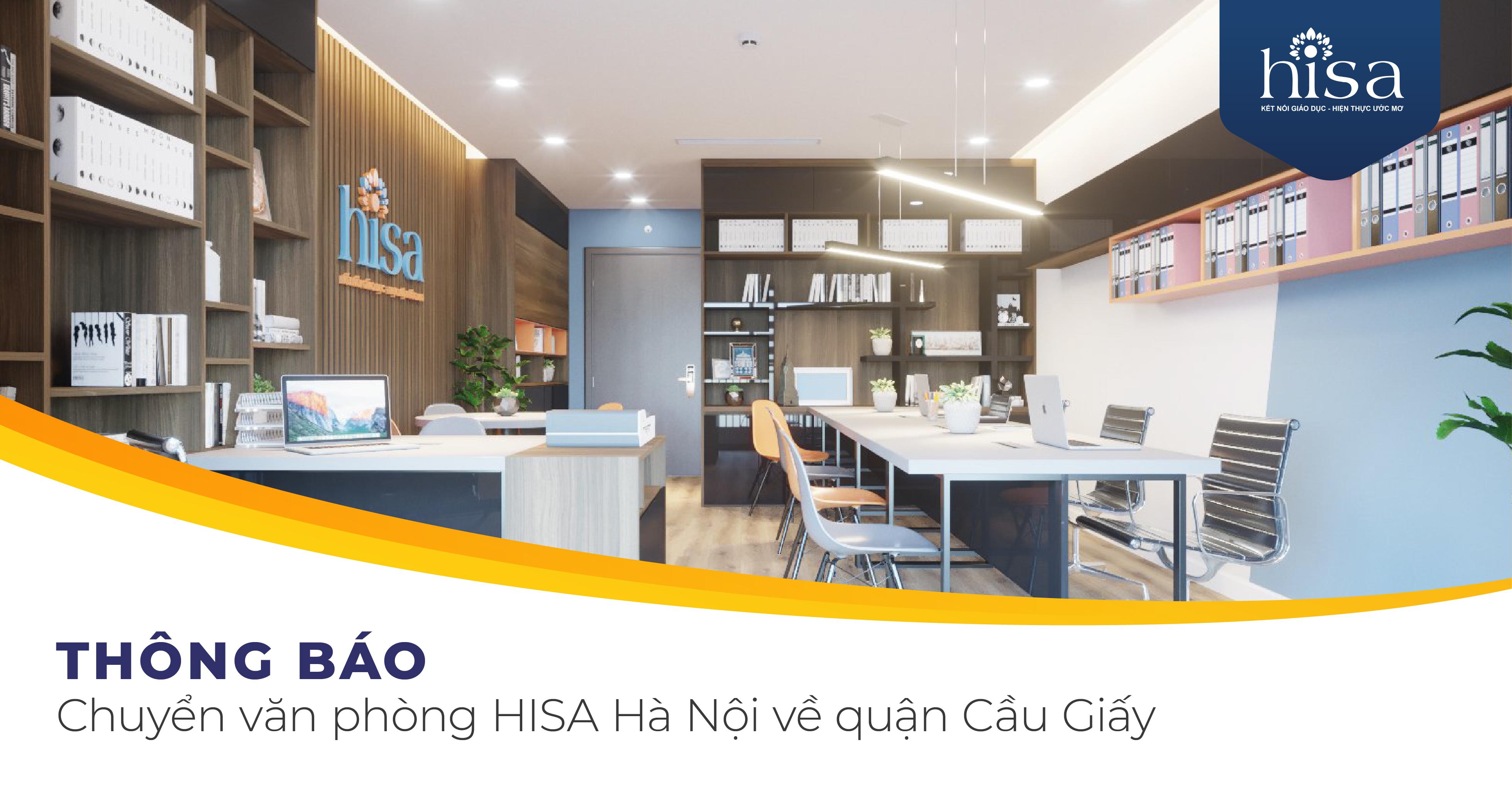thông báo chuyển văn phòng Công ty Tư vấn du học HISA Hà Nội