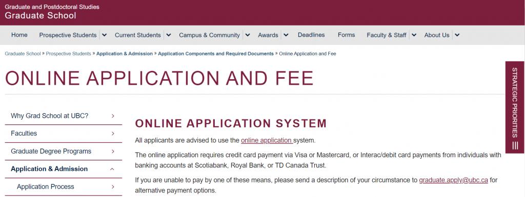 Chi phí apply online khi du học các trường đại học tại Canada 2020