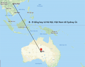 Vị trí địa lý tương đối của nước Úc và Việt Nam