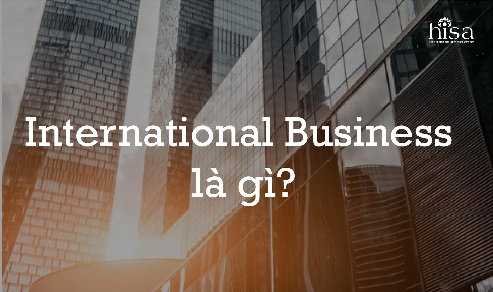 kinh doanh quốc tế