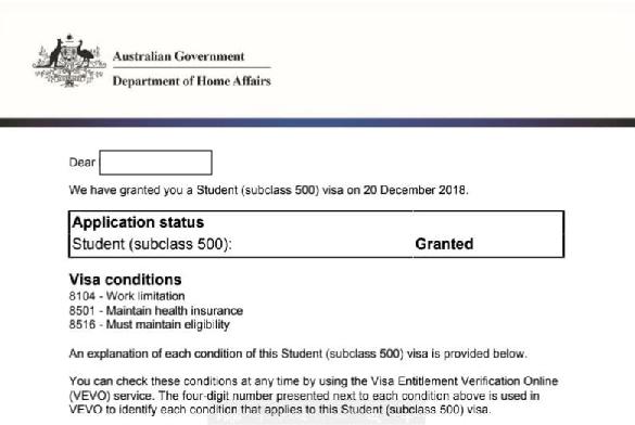Visa du học Úc loại Subclass 500