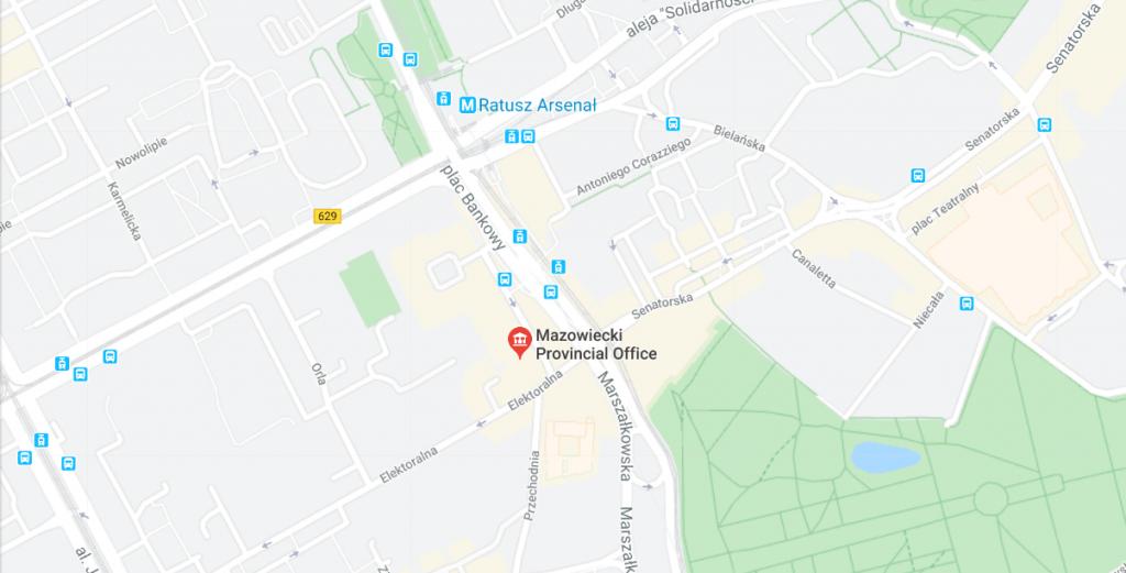Địa chỉ của Sở Ngoại Kiều để nộp hồ sơ làm thẻ tạm cư tại Ba Lan