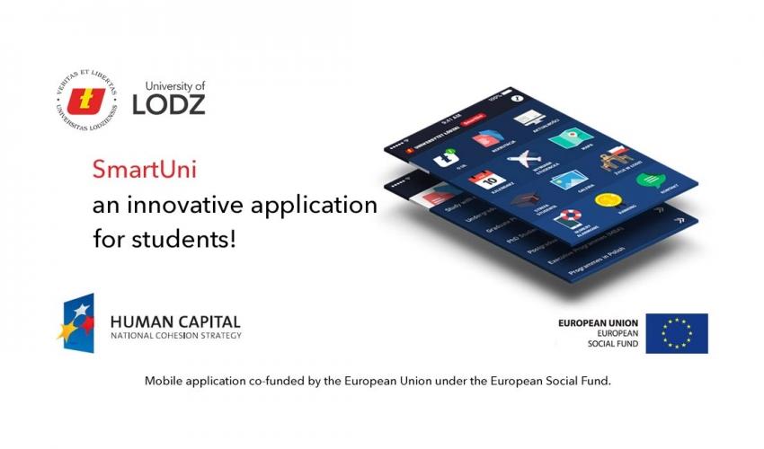ứng ụng SmartUni của trường đại học Lodz cho sinh viên