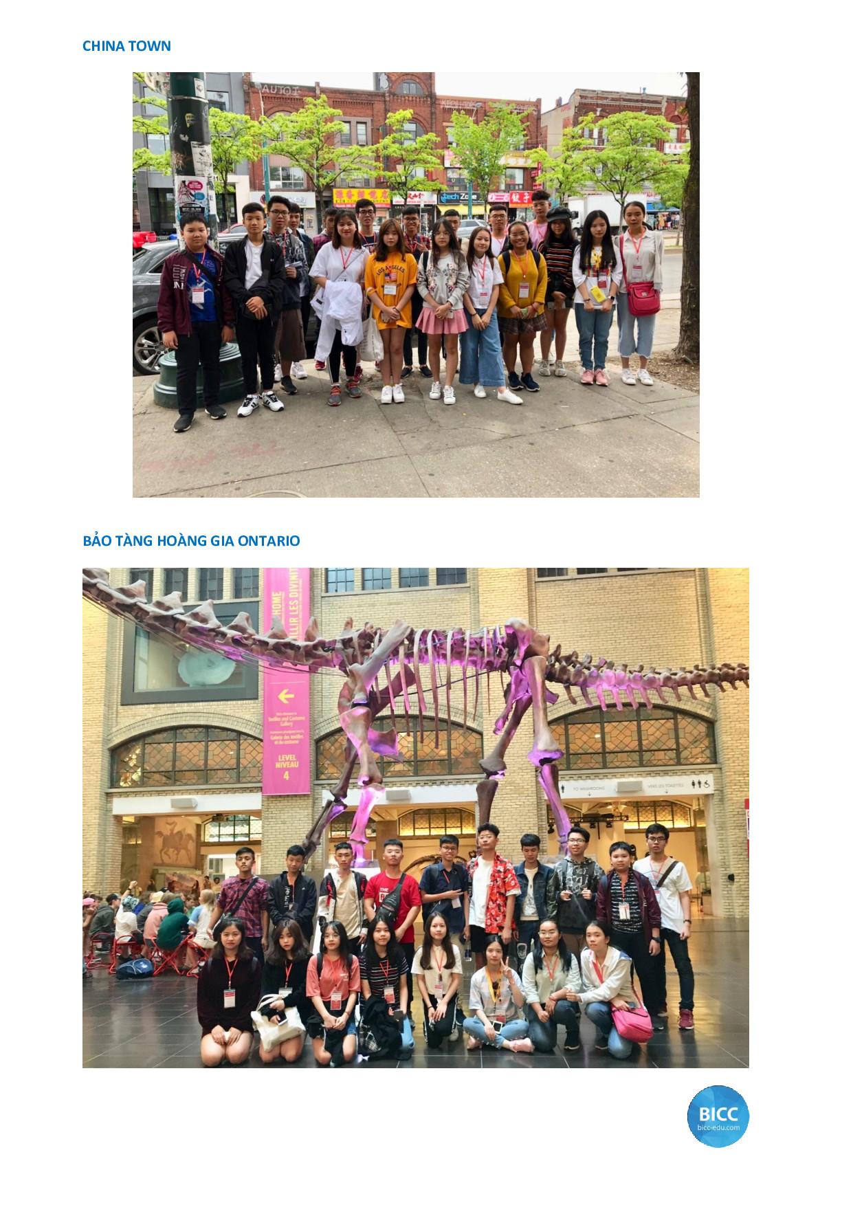 học sinh thăm quan China town
