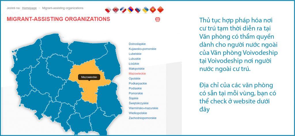 Cách tìm địa chỉ nơi văn phòng làm thủ tục cư trú tại Ba Lan