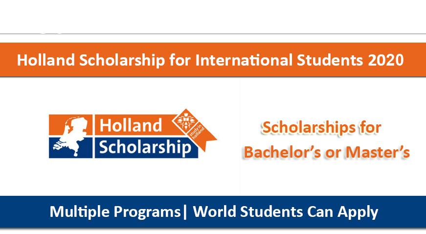 Học bổng du học Hà Lan 2020 Holland Scholarship