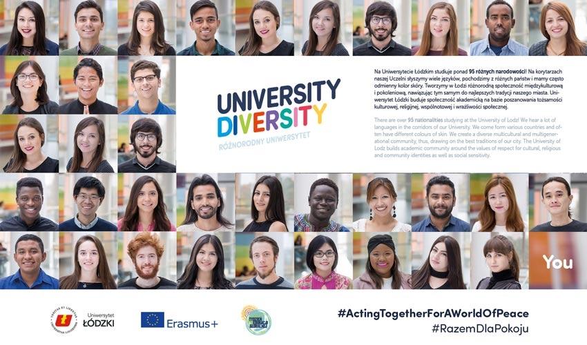 Sự đang dạng về chủng tộc của sinh viên tại trường đại học Lodz