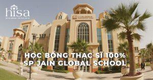 HỌC BỔNG THẠC SĨ 100% SP JAIN GLOBAL SCHOOL