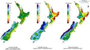 Nhiệt độ và khí hậu của đất nước New Zealand