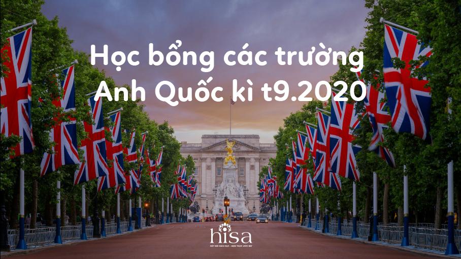 Học bổng du học Anh tháng 9 2020