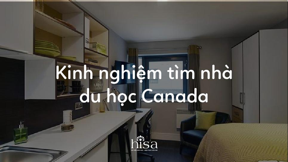 Kinh nghiệm tìm nhà du học Canada
